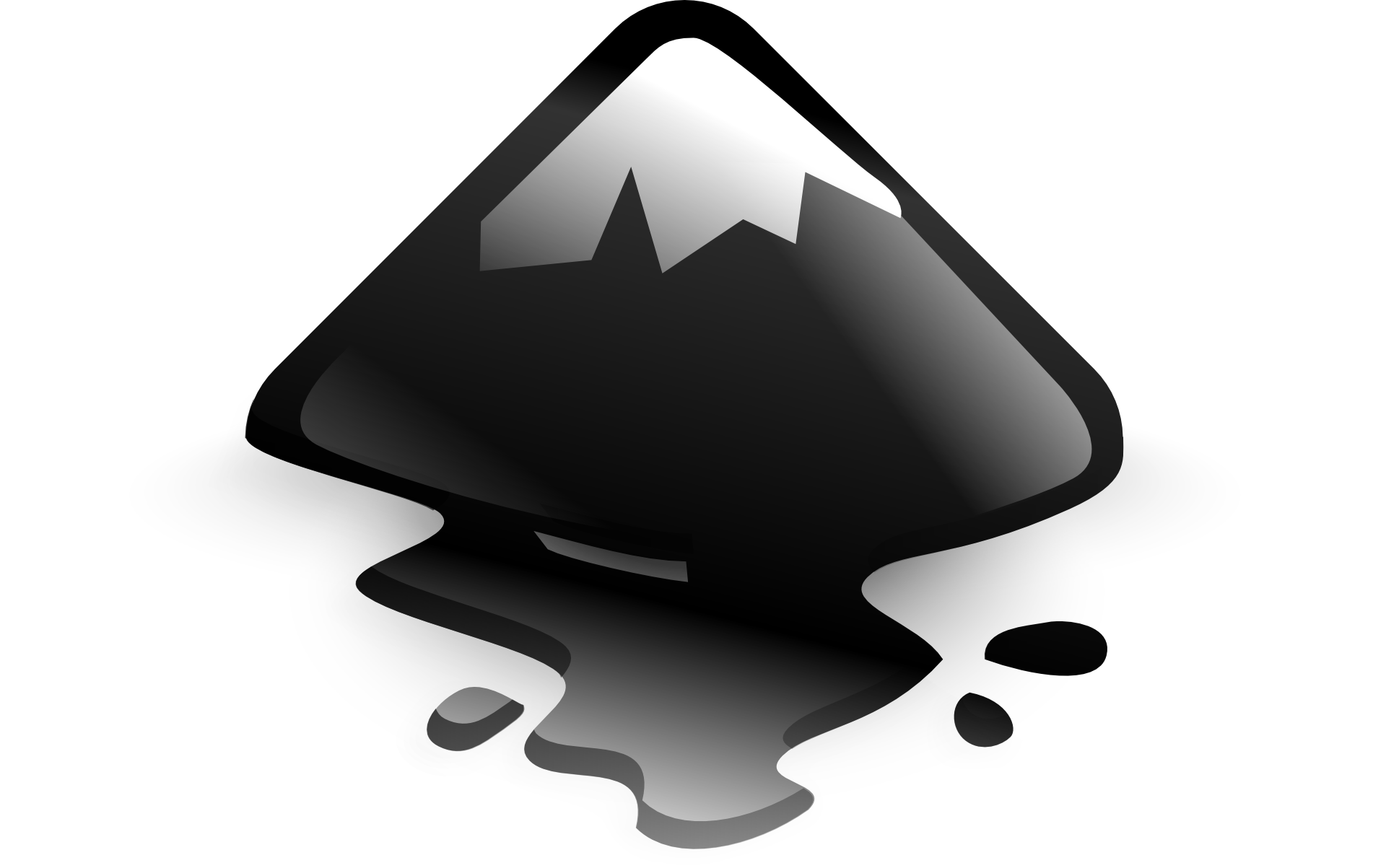 Ilustracja wektorowa na której widoczny jest szczyt góry.