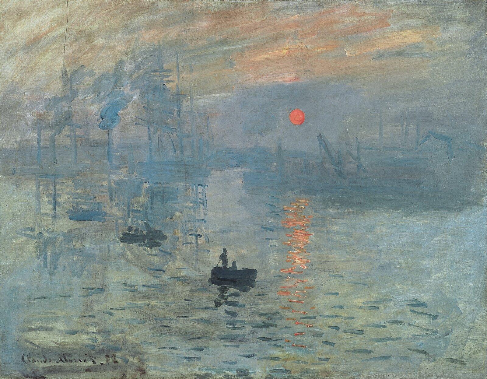 Impresja, wschód słońca Źródło: Claude Monet, Impresja, wschód słońca, 1872, Musée Marmottan Monet, Paryż, licencja: CC 0.