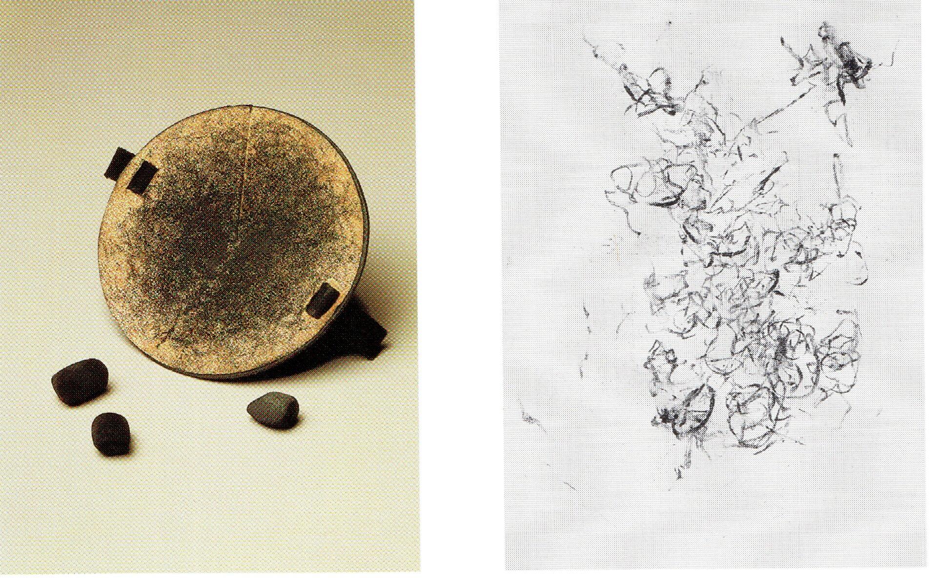 Ilustracja przedstawiająca nietypowe narzędzia rysunkowe.