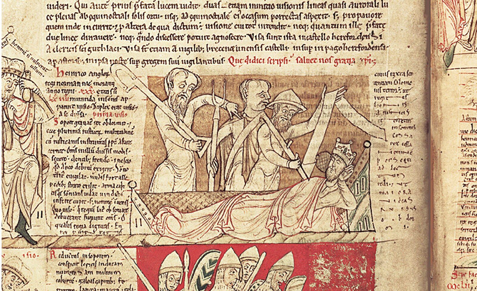Miniatura przedstawiająca króla angielskiego Henryka II Miniatura przedstawiająca króla angielskiego Henryka II