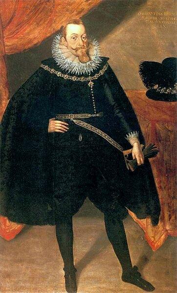 Portret króla Zygmunta III Wazy wstroju hiszpańskim Portret króla Zygmunta III Wazy wstroju hiszpańskim Źródło: Jakob Troschel, 1610, domena publiczna.
