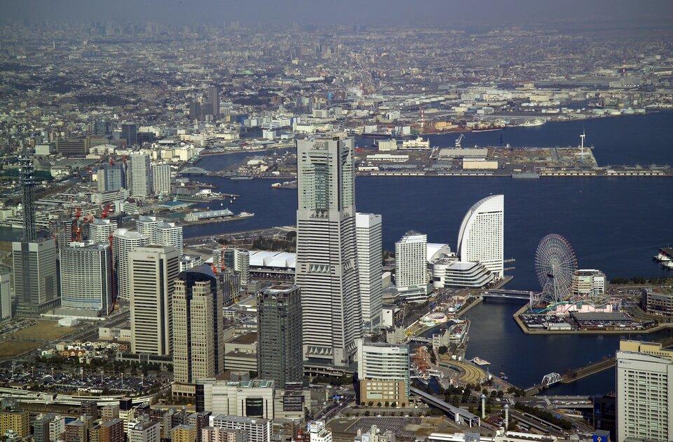 Jokohama waglomeracji Tokio to jeden znajwiększych portów morskich świata
