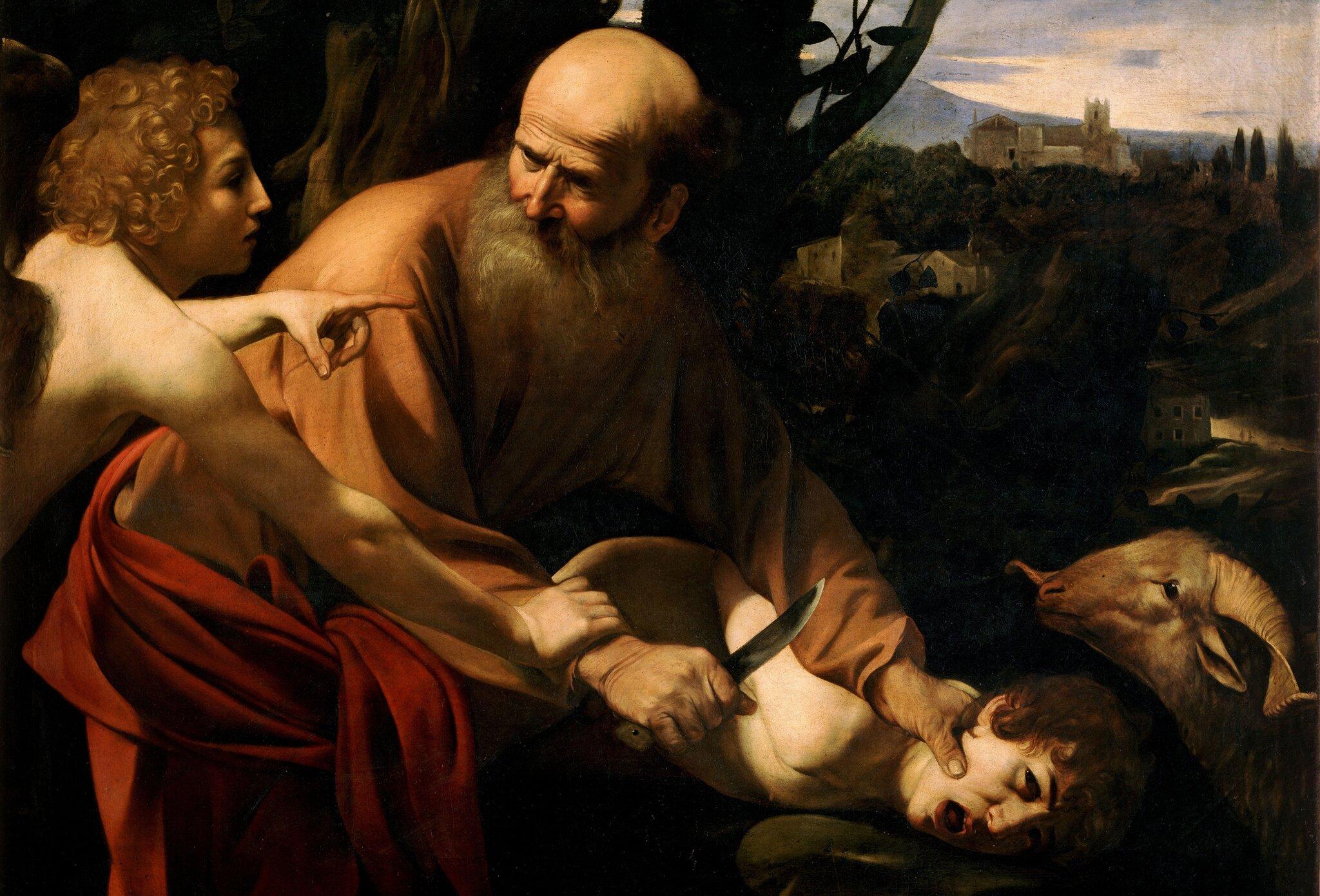 Ofiarowanie Izaaka Źródło: Caravaggio, Ofiarowanie Izaaka, ok. 1603, olej na płótnie, Uffizi, Florencja, domena publiczna.