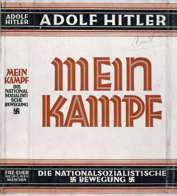 """Okładka """"Mein Kampf˝ Okładka """"Mein Kampf˝ Źródło: domena publiczna."""