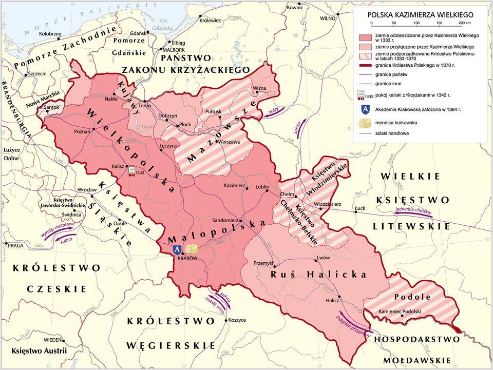 Polska Kazimierza Wielkiego Źródło: Krystian Chariza izespół, Polska Kazimierza Wielkiego, licencja: CC BY 3.0.