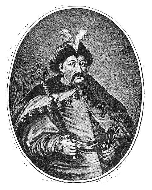 Portret hetmana Bohdana Chmielnickiego – sztych Wilhelma Hondiusa(1597-1652) artystyholenderskiego, który w1637 r, przeniósł się do Rzeczpospolitej iwykonał szereg grafik portretowych osób związanych zdworem Władysława IV oraz Jana Kazimierza. Portret hetmana Bohdana Chmielnickiego – sztych Wilhelma Hondiusa(1597-1652) artystyholenderskiego, który w1637 r, przeniósł się do Rzeczpospolitej iwykonał szereg grafik portretowych osób związanych zdworem Władysława IV oraz Jana Kazimierza. Źródło: Willem Hondius, domena publiczna.