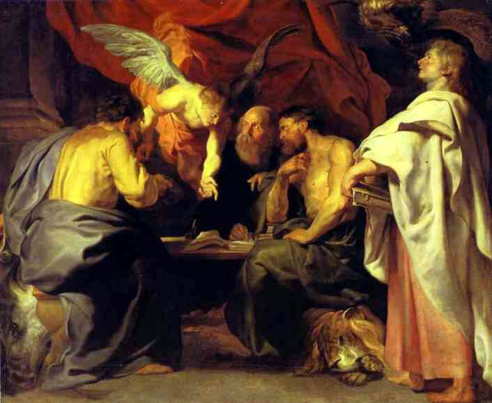 Czterej ewangeliści Źródło: Peter Paul Rubens, Czterej ewangeliści, ok. 1614, Bildergalerie Sanssouci, Poczdam, domena publiczna.
