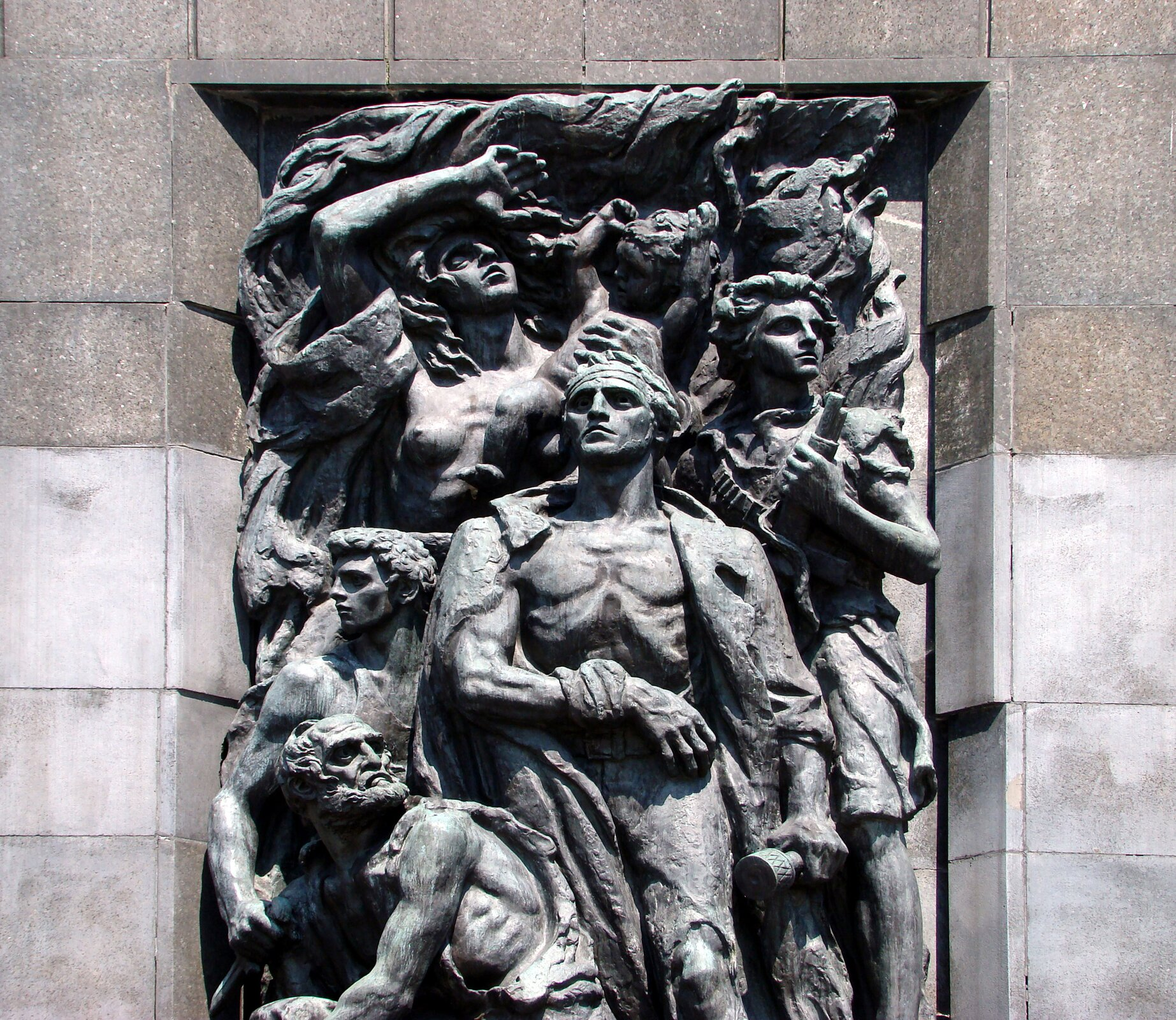 Pomnik Bohaterów Getta na warszawskim Muranowie Pomnik Bohaterów Getta na warszawskim Muranowie Źródło: domena publiczna.