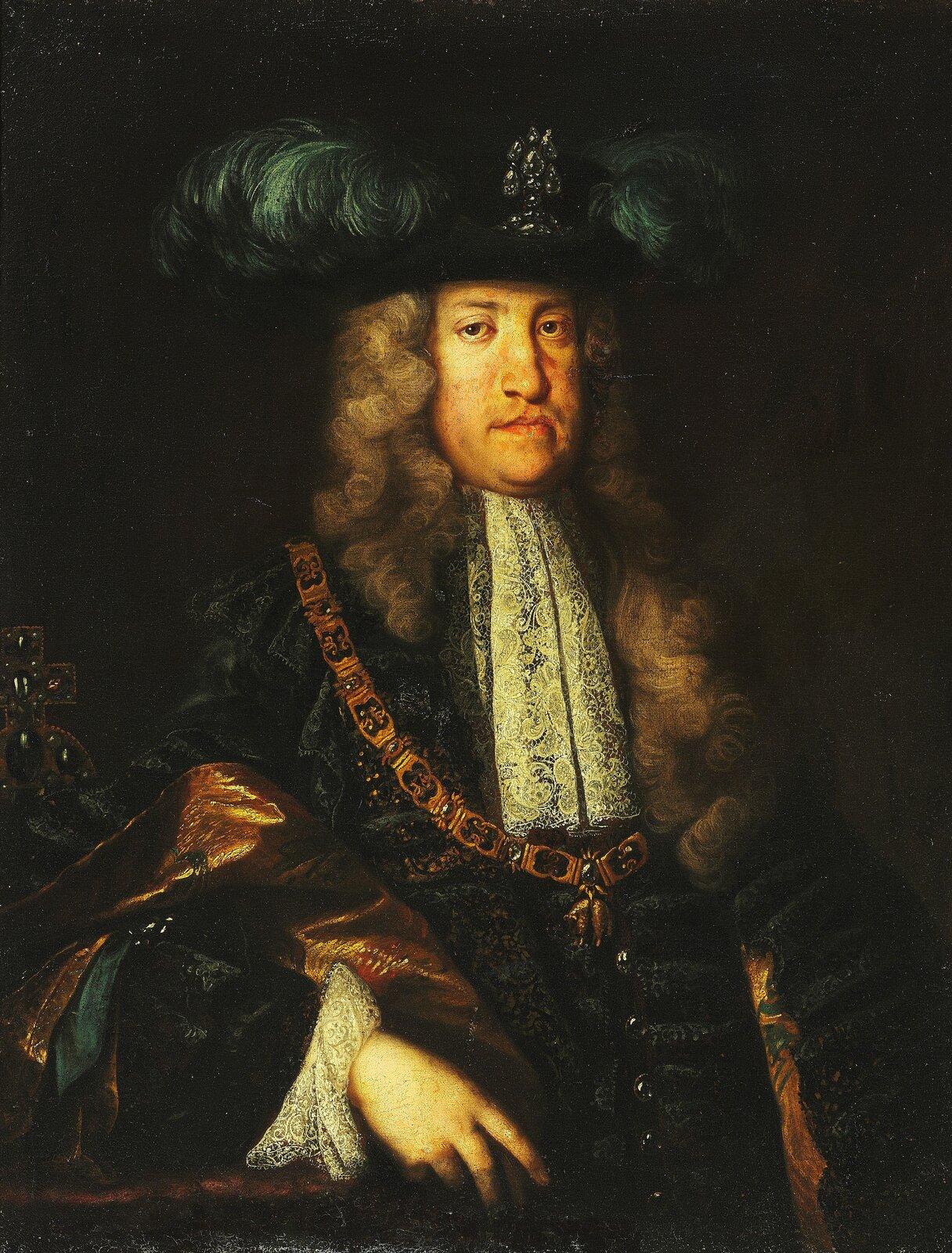 Cesarz Karol VI Karol VI Habsburg,Święty Cesarz Rzymski,król WęgieriCzech oraz arcyksiążę Austrii. Źródło: Martin van Meytens, Cesarz Karol VI, XVIII w., olej na płótnie, domena publiczna.