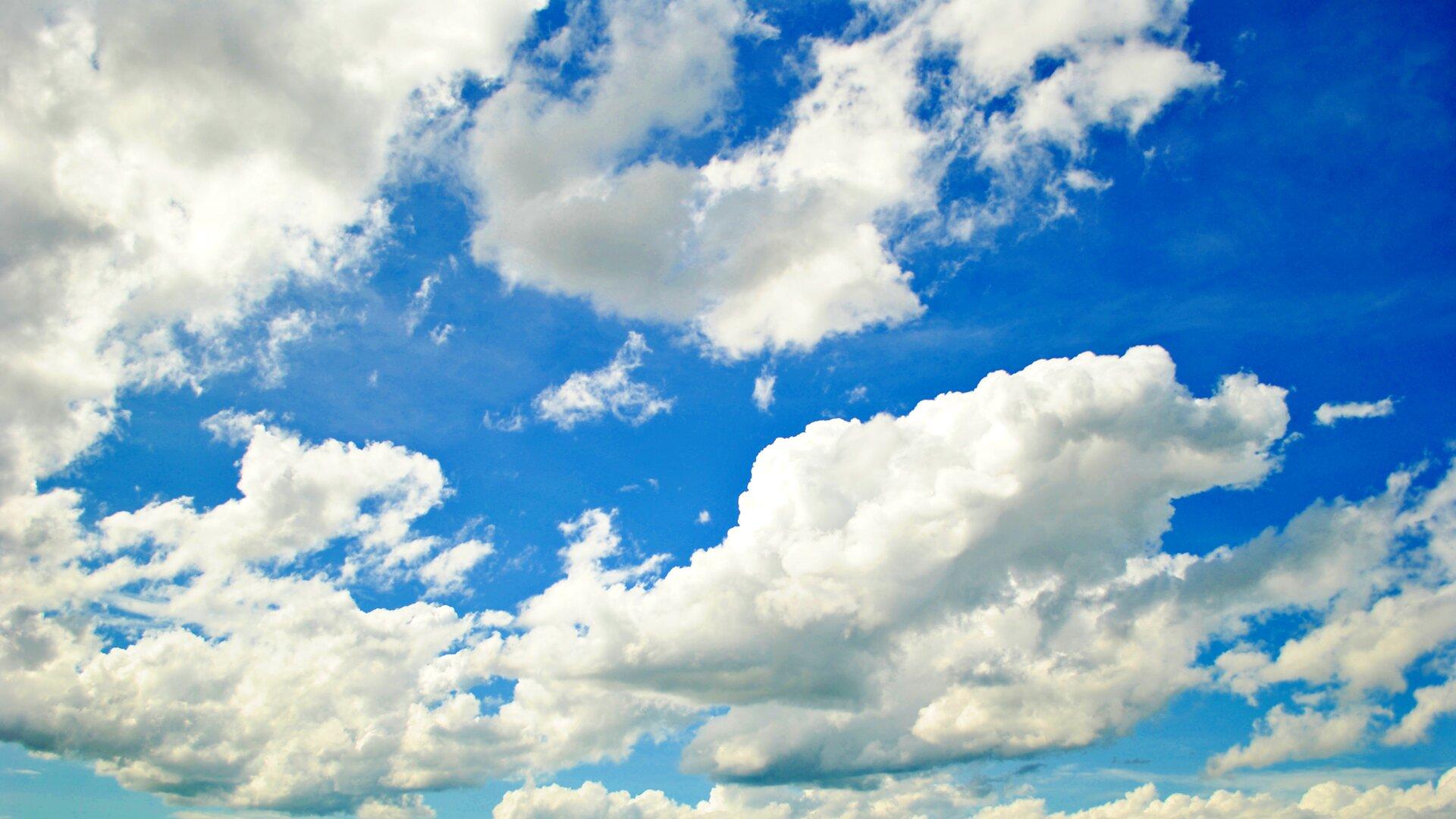 Fotografia chmury typu Cumulus