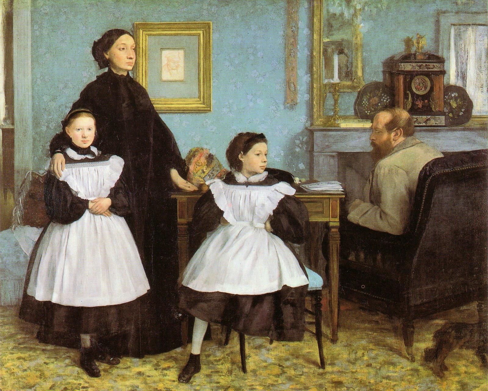Rodzina Bellellich Źródło: Edgar Degas, Rodzina Bellellich, 1857–1867, olej na płótnie, domena publiczna.