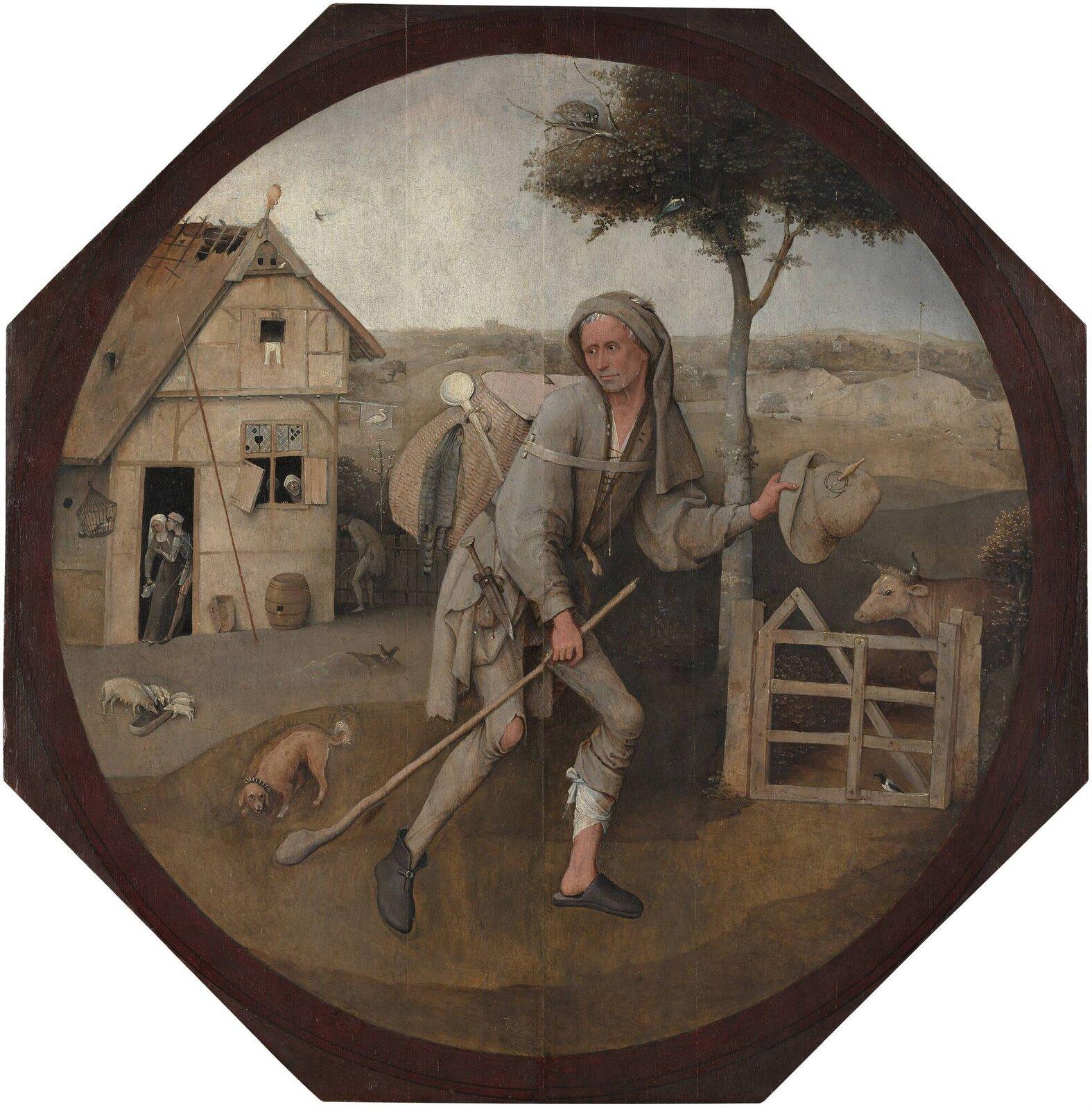 Wędrowiec Źródło: Hieronim Bosch, Wędrowiec, 1510, Museum Boijmans Van Beuningen, Rotterdam, domena publiczna.
