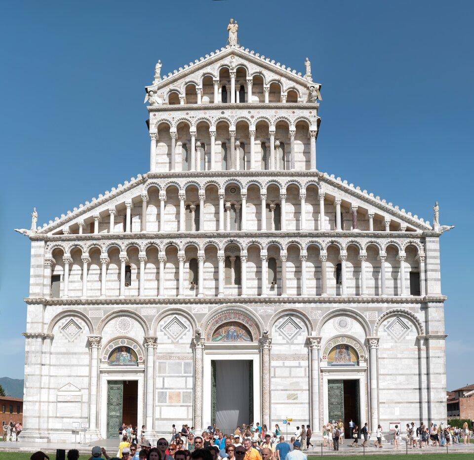 Katedra wPizie, 1 poł. XII w. Źródło: Katedra wPizie, 1 poł. XII w., licencja: CC BY-SA 3.0.