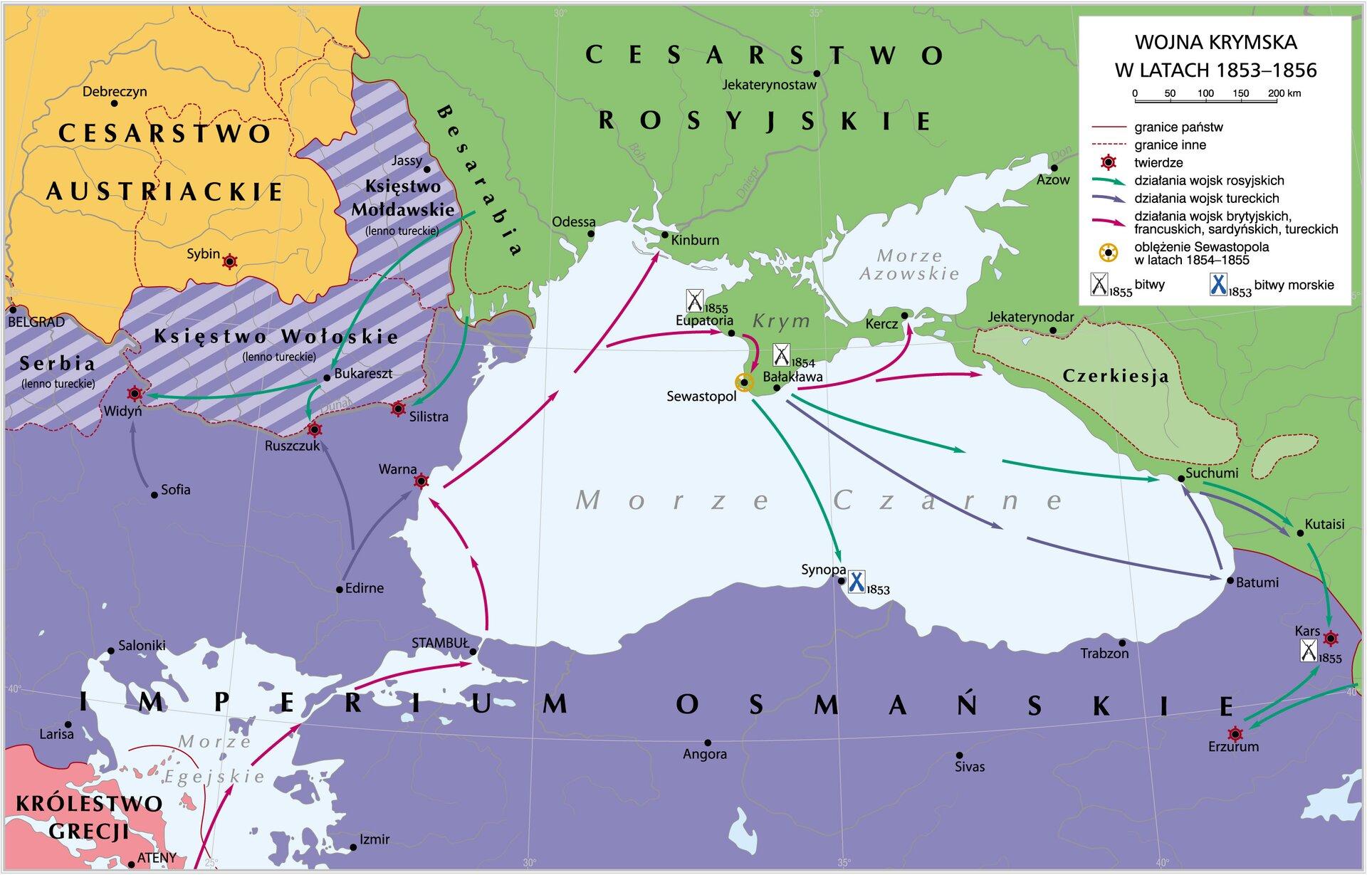 Wojna krymska 1853-1856 Źródło: Krystian Chariza izespół, Wojna krymska 1853-1856, licencja: CC BY 3.0.