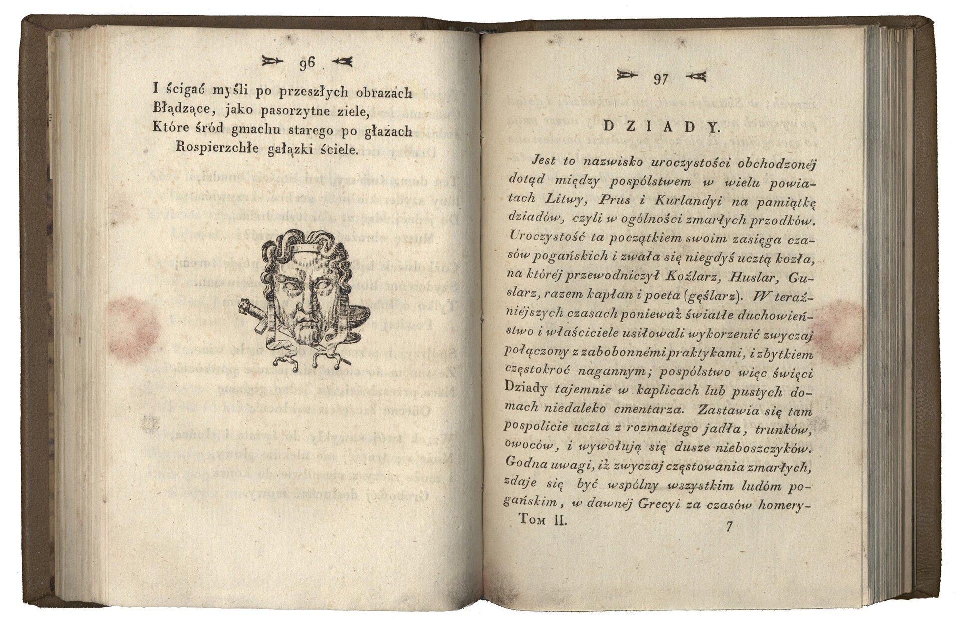 Poezye, t. 2 Źródło: Adam Mickiewicz, Poezye, t. 2, Wilno 1823, domena publiczna.