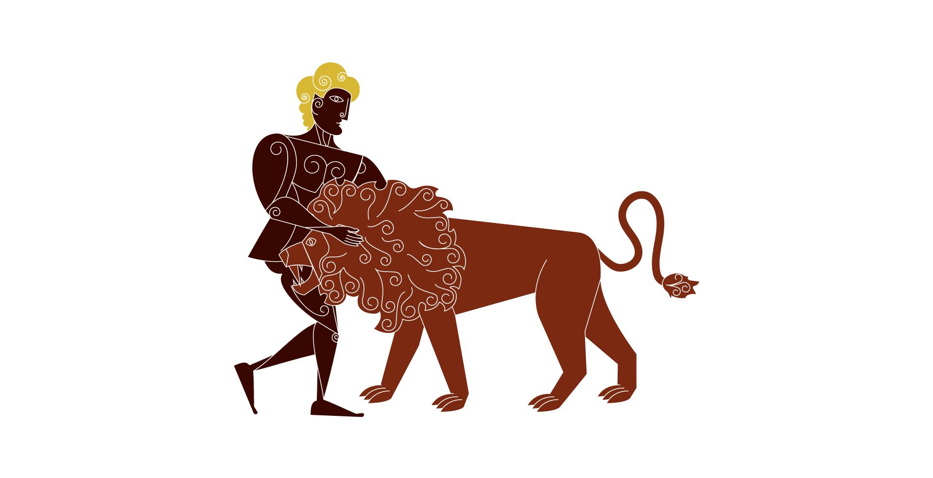 Herakles gołymi rękoma udusił lwa, który grasował wokolicach Nemei, pożerając mieszkańców iich stada. Zzabitego zwierzęcia zdarł skórę iużywał odtąd jako własnego ubioru, gdyż była odporna na ogień inie można jej było przeciąć mieczem. Zgłowy zabitego lwa sporządził sobie hełm Herakles gołymi rękoma udusił lwa, który grasował wokolicach Nemei, pożerając mieszkańców iich stada. Zzabitego zwierzęcia zdarł skórę iużywał odtąd jako własnego ubioru, gdyż była odporna na ogień inie można jej było przeciąć mieczem. Zgłowy zabitego lwa sporządził sobie hełm Źródło: Contentplus.pl sp. zo.o..