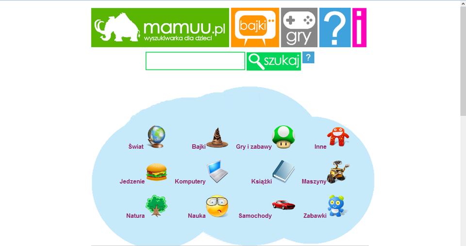Zrzut okna wyszukiwarki Mamuu