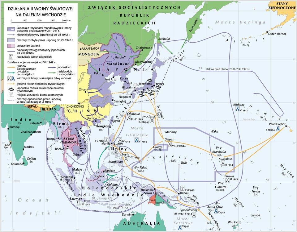 II wojna światowa na Dalekim Wschodzie II wojna światowa na Dalekim Wschodzie Źródło: Krystian Chariza izespół, licencja: CC BY 3.0.