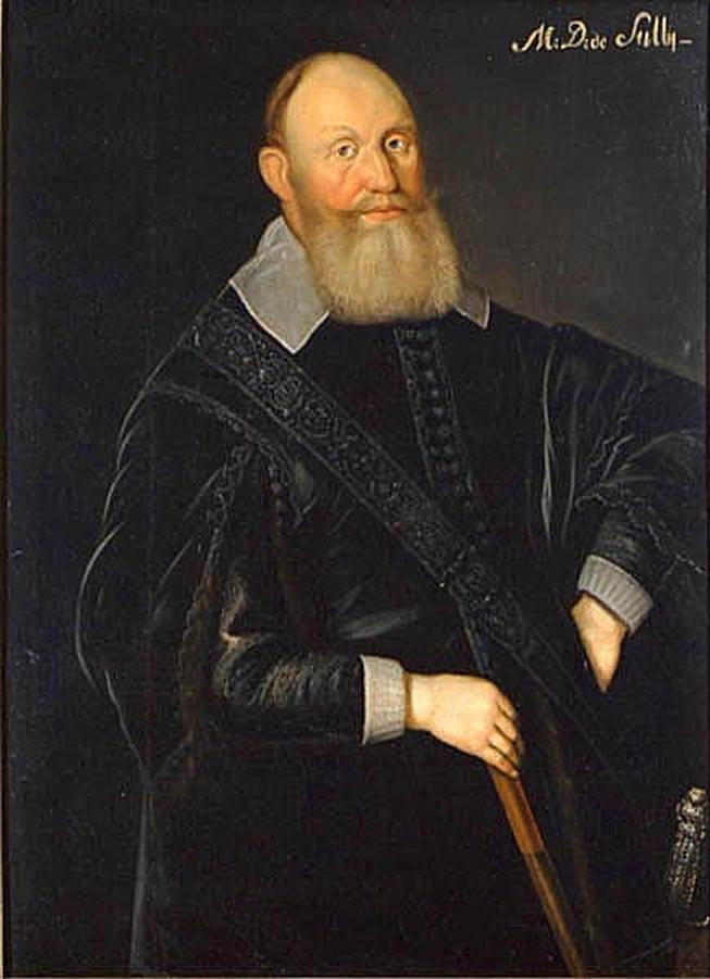 Carl Carlsson Gyllenhjelm Karol Gyllenhielm, nieślubny syn króla Szwecji Karola IX Sudermańskiego, szwedzki marszałek polny. W1601 roku dowodził jedną zarmii ipo bitwie pod Kokenhausen dostał się do polskiej niewoli, wktórej przebywał aż do 1613 roku. Źródło: Jacob Heinrich Elbfas, Carl Carlsson Gyllenhjelm, połowa XVII wieku, olej na płótnie, domena publiczna.