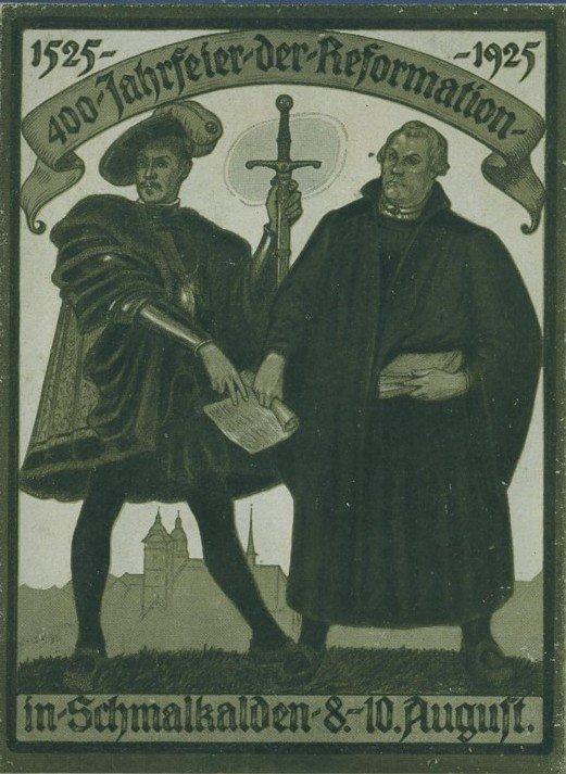 Karta pocztowa wydana zokazji 400-lecia Związku Szmalkaldzkiego