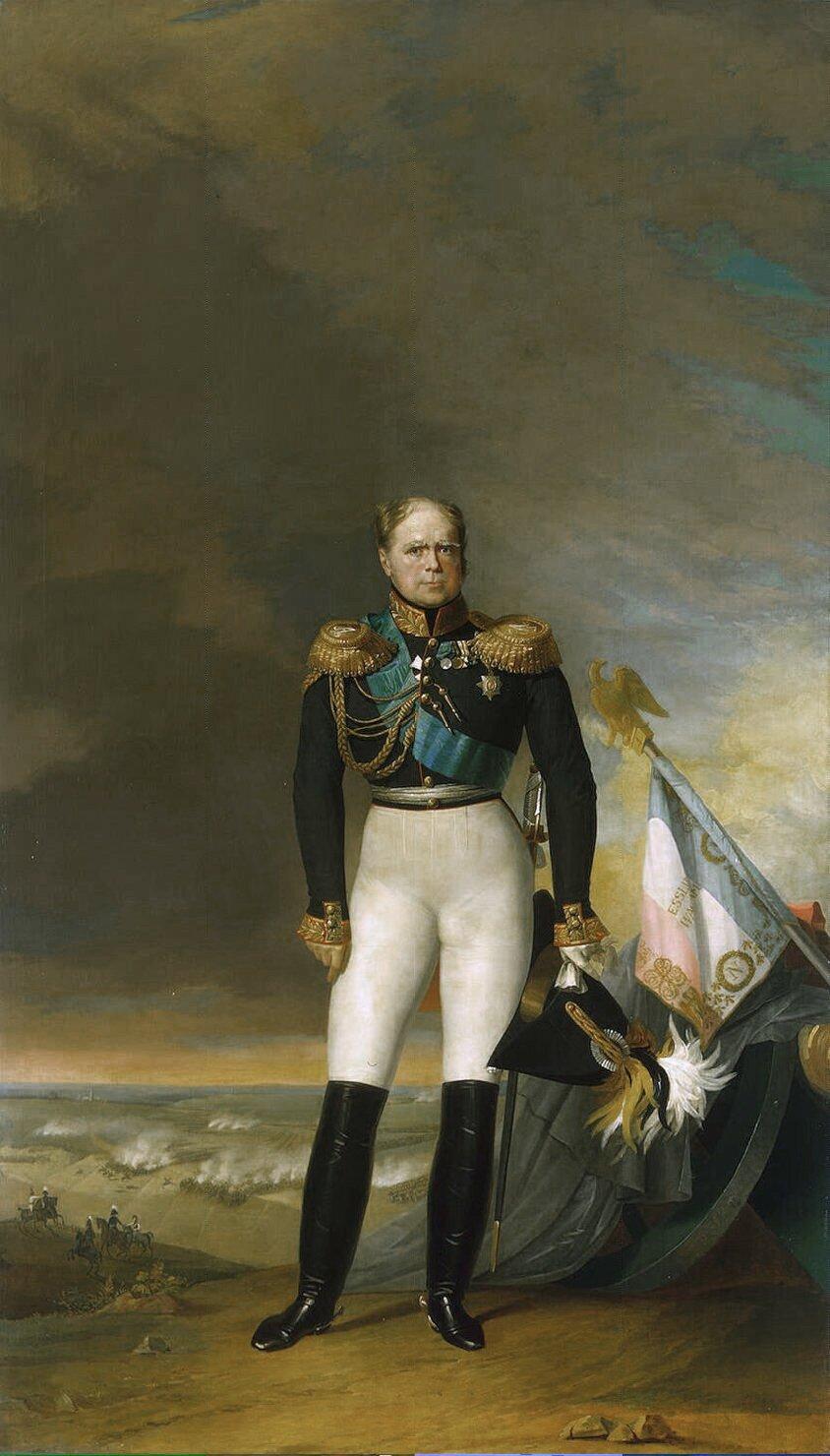 Portret księcia Konstantego Pawłowicza Wielkiego Źródło: George Dawe, Thomas Wright, Portret księcia Konstantego Pawłowicza Wielkiego, 1834, olej na płótnie, Hermitage Museum, domena publiczna.