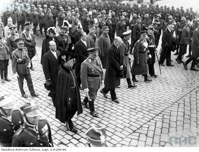 Wpogrzebie Piłsudskiego uczestniczył Herman Goering.