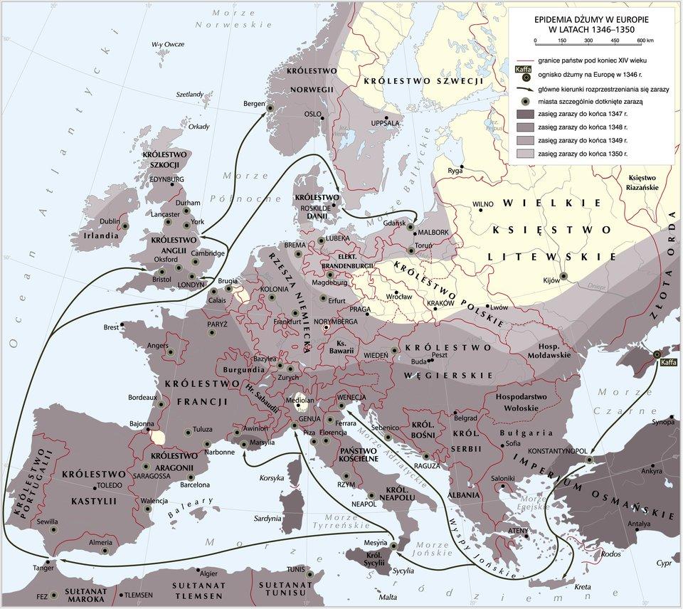 Epidemia dżumy wEuropie