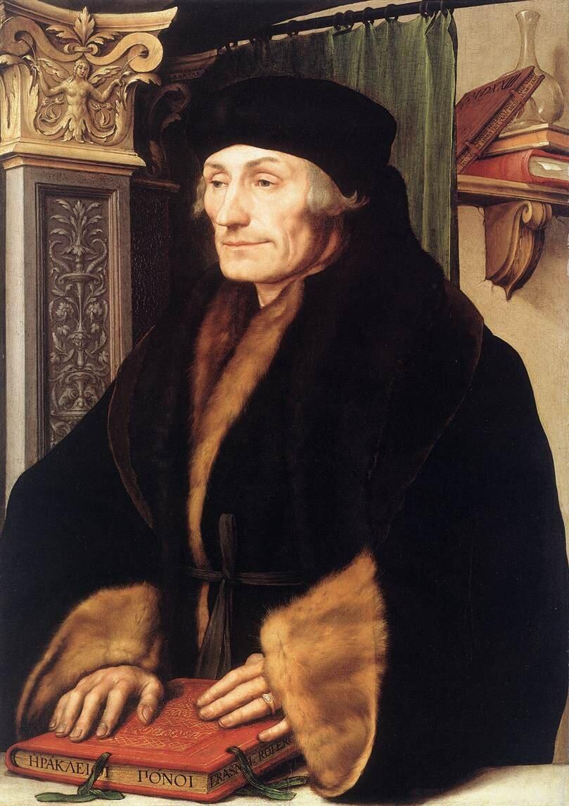 Erazm zRotterdamu Erazm zRotterdamu Źródło: Albrecht Dürer, 1526, olej na płótnie, domena publiczna.