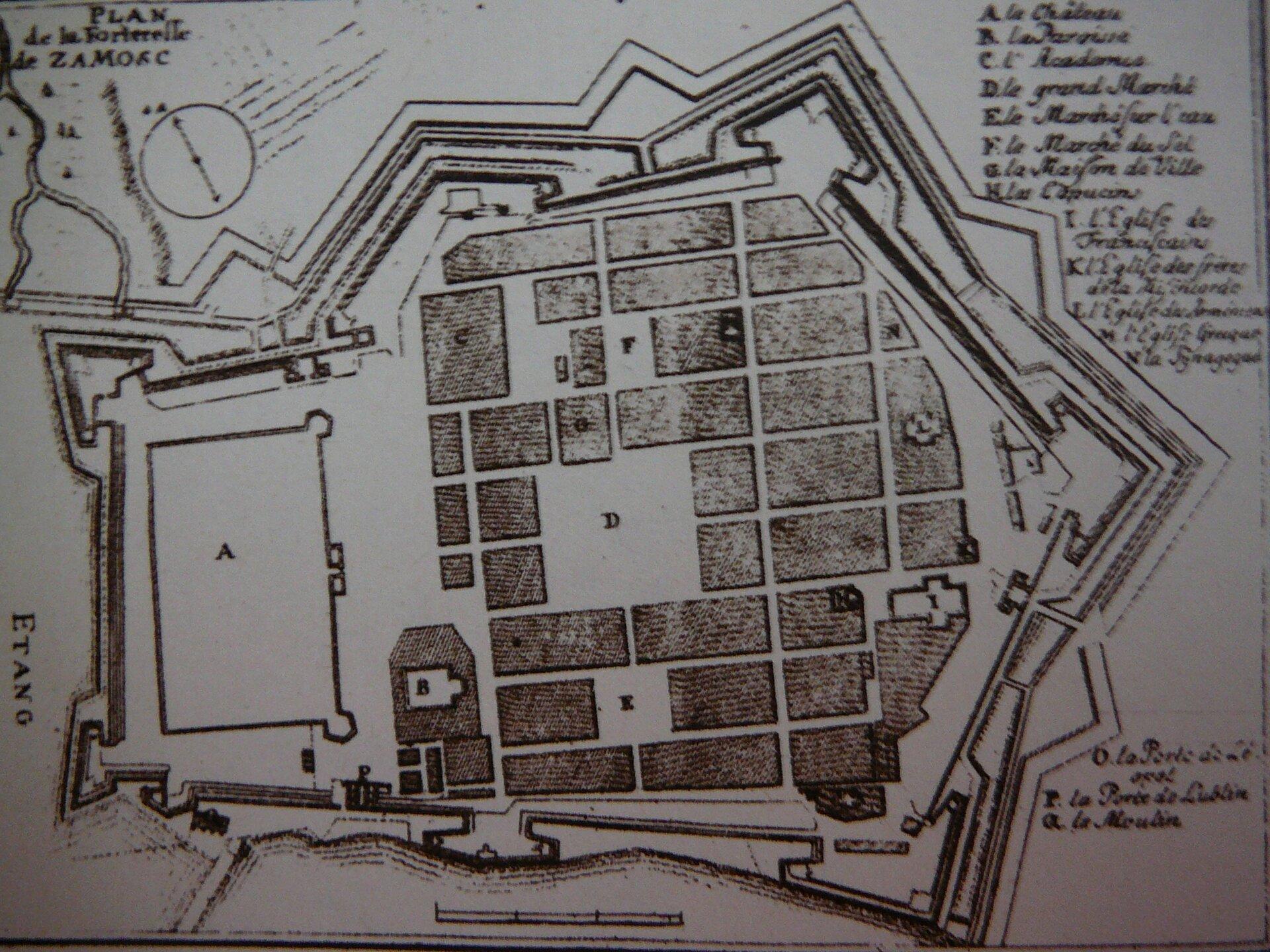 Plan twierdzy zamojskiej wXVII w. Plan twierdzy zamojskiej wXVII w. Źródło: Stanisław Jabłonowski, domena publiczna.