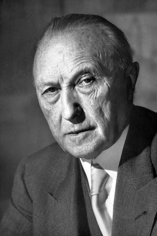 Konrad Adenauer Źródło: Katherine Young, Konrad Adenauer, 1952, fotografia, Bundesarchiv, licencja: CC BY-SA 3.0.