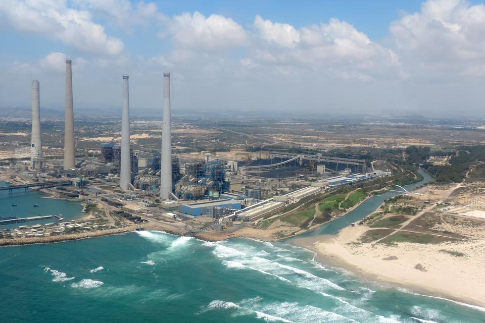 Zdjęcie największej na świecie stacji odsalania wody wIzraelu.