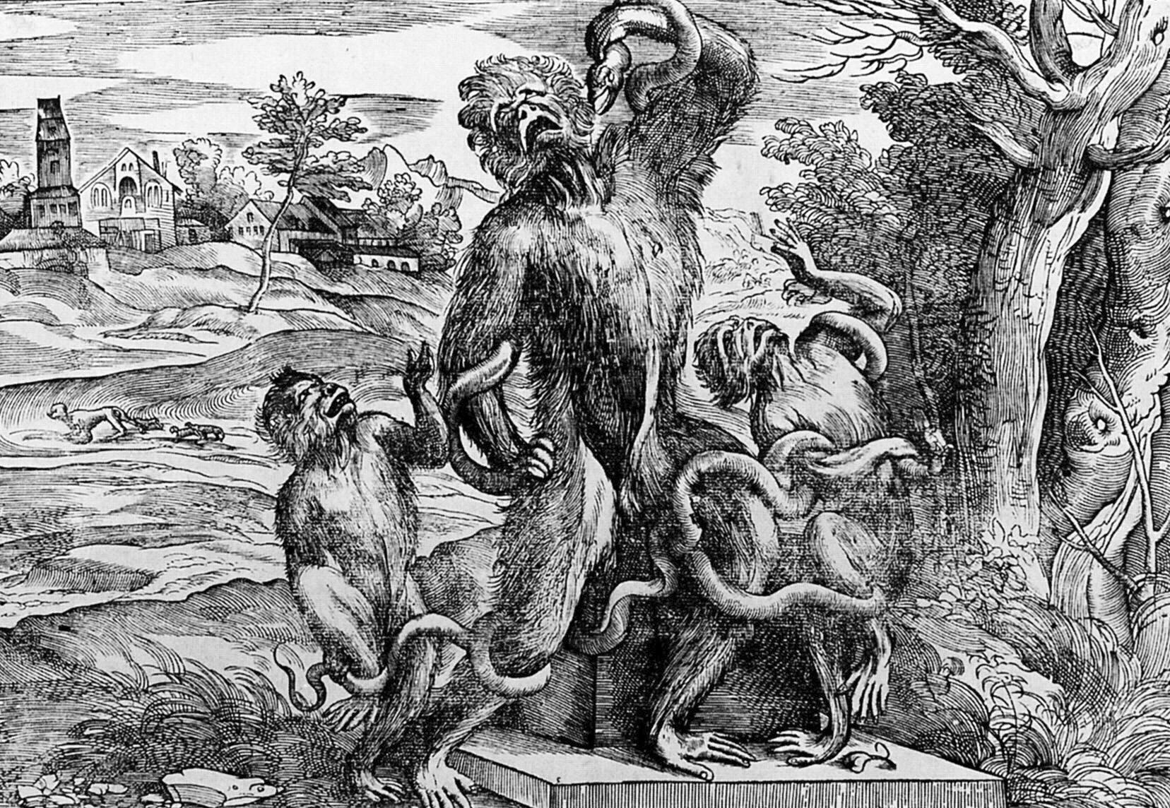 Laokoon ijego synowie Źródło: Niccolò Boldrini, Laokoon ijego synowie, ok. 1545, drzeworyt, Albertina, domena publiczna.