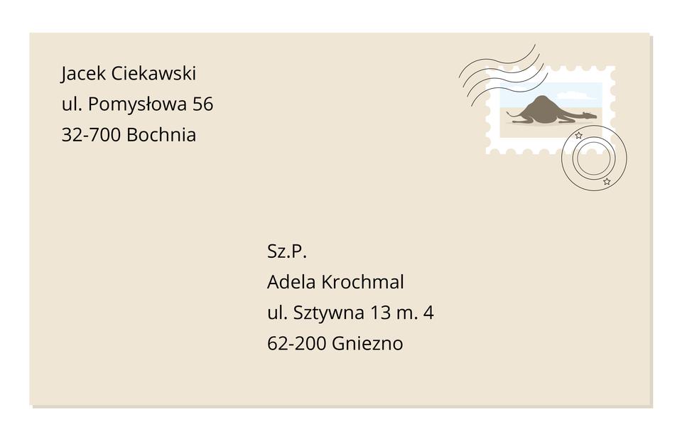 adres nadawcy tyl Źródło: Contentplus.pl sp. zo.o., licencja: CC BY 3.0.