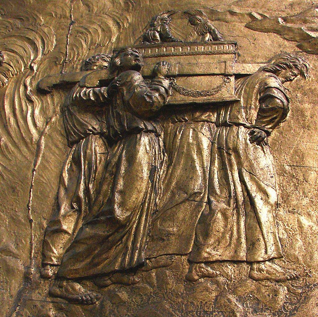 Jedno ze średniowiecznych wyobrażeń Arki Przymierza Jedno ze średniowiecznych wyobrażeń Arki Przymierza Źródło: domena publiczna.