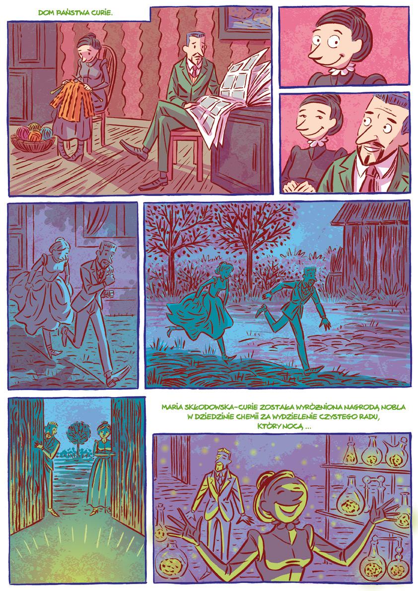 Robaczki - komiks Źródło: Uniwersytet Wrocławski Contentplus.pl.