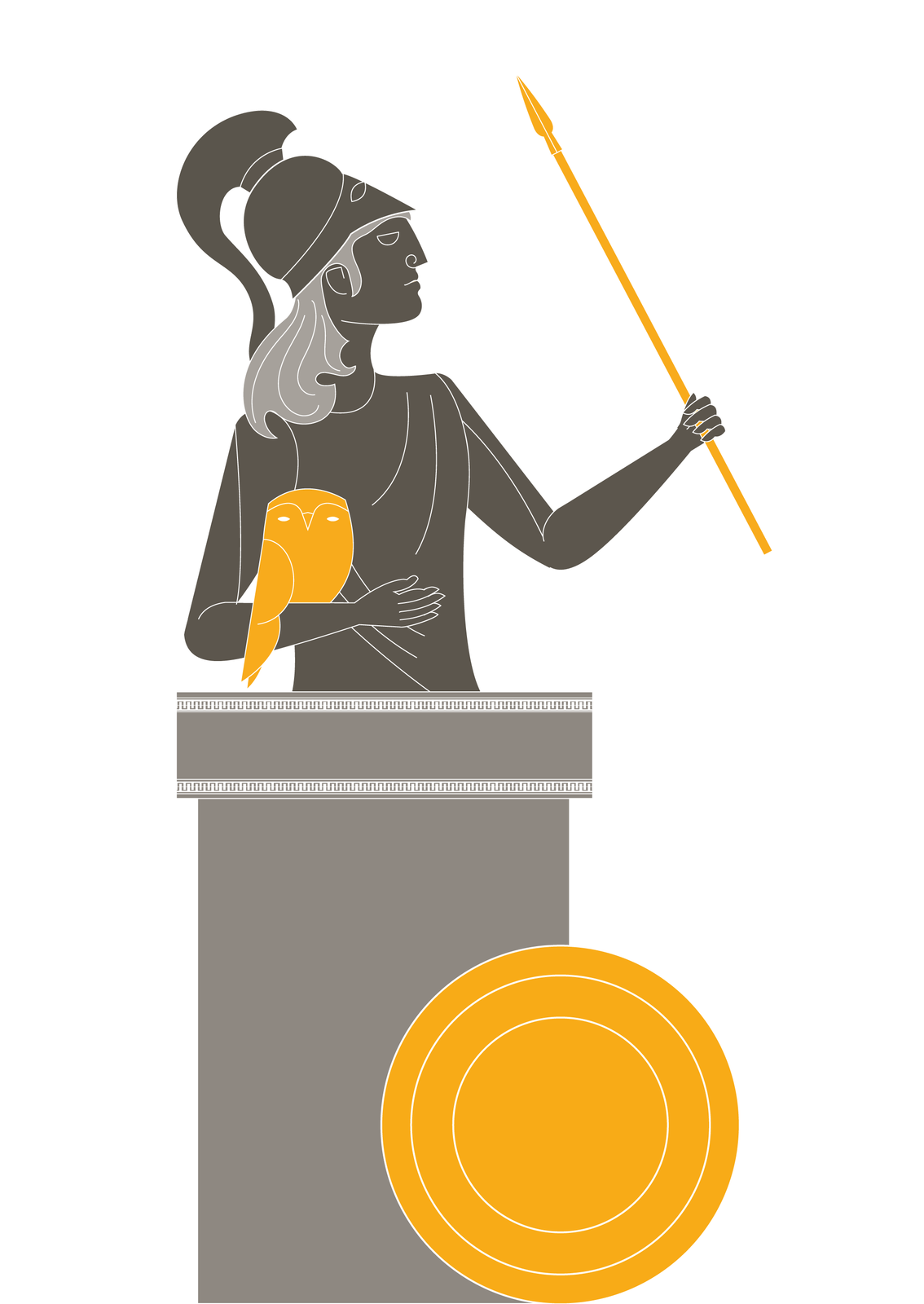 Atena, córka Zeusa, była opiekunką mądrości inauki, atakże rzemieślników. Ptakiem jej poświęconym była sowa. Według mitu Atena narodziła się zgłowy Zeusa, wyskakując zniej wpełnym uzbrojeniu. Była boginią-wojowniczką, dlatego przedstawiano ją zwykle whełmie, zwłócznią itarczą Atena, córka Zeusa, była opiekunką mądrości inauki, atakże rzemieślników. Ptakiem jej poświęconym była sowa. Według mitu Atena narodziła się zgłowy Zeusa, wyskakując zniej wpełnym uzbrojeniu. Była boginią-wojowniczką, dlatego przedstawiano ją zwykle whełmie, zwłócznią itarczą Źródło: Contentplus.pl sp. zo.o., licencja: CC BY 3.0.