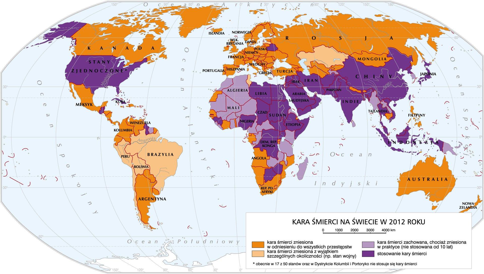 mapa -Kara śmierci na świecie