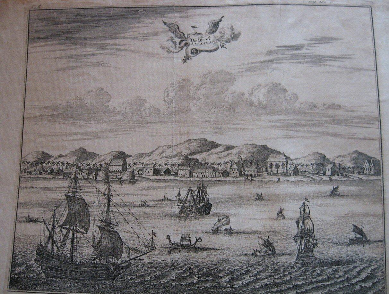 Widok na wyspę Ambon na Molukach zplantacjami wtle Widok na wyspę Ambon na Molukach zplantacjami wtle Źródło: Lubiesque, Wikimedia Commons, licencja: CC BY-SA 3.0.