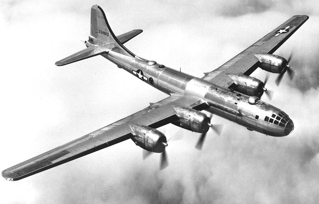 Boeing B-29 Superfortress(Superforteca) – amerykański ciężkibombowiec strategiczny Boeing B-29 Superfortress(Superforteca) – amerykański ciężkibombowiec strategiczny Źródło: domena publiczna.