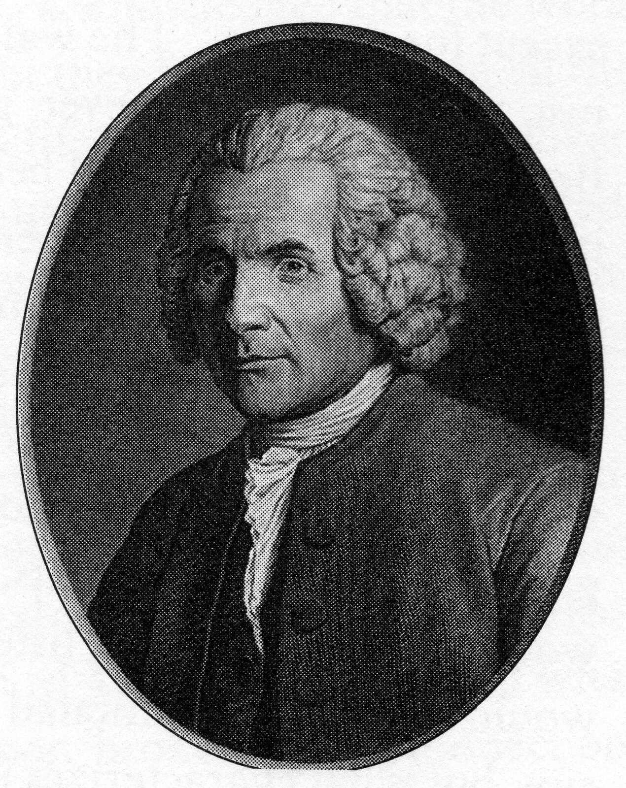 Angelique Briceau, Portret Jeana-Jacquesa Rousseau Jean-Jacques Rousseau – portret pisarza wangielskim wydaniu jego dzieł Źródło: Angelique Briceau, Portret Jeana-Jacquesa Rousseau.