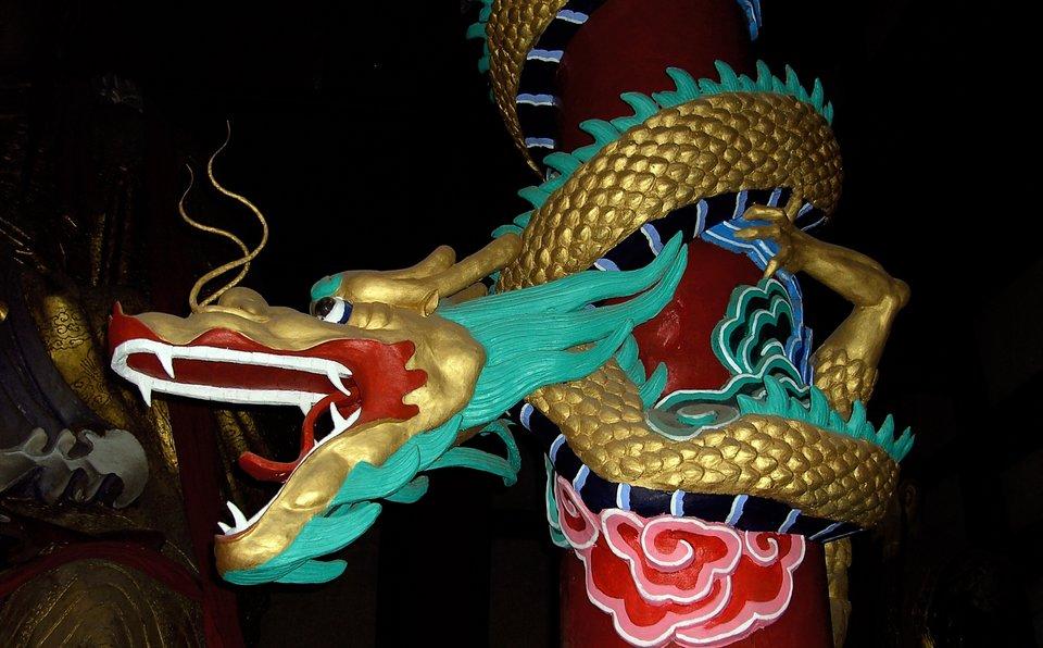 Smok wstarożytnym mieście duchów Fengdu wChinach Smok wstarożytnym mieście duchów Fengdu wChinach Źródło: High Contrast, licencja: CC BY 3.0.