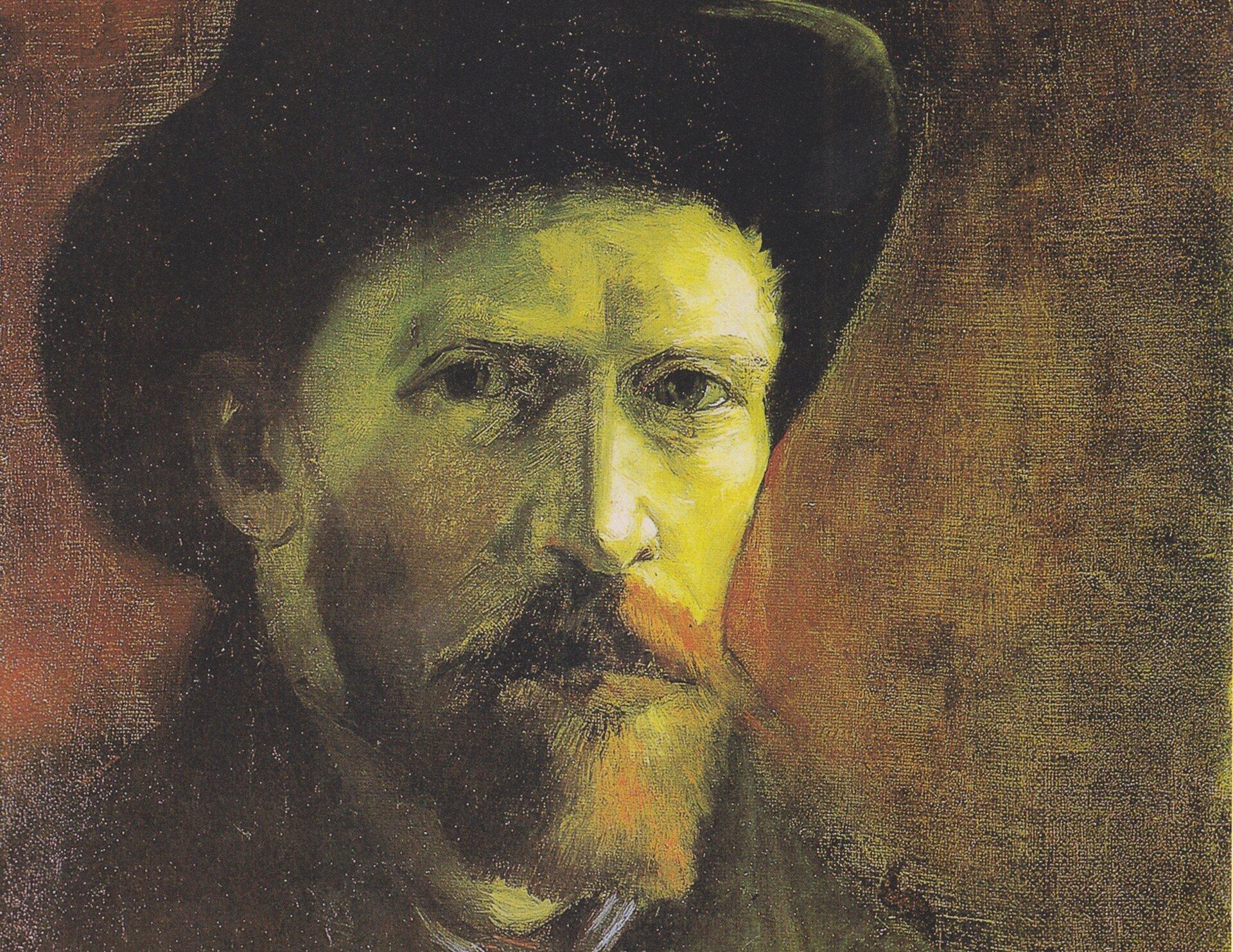Autoportret wfilcowym kapeluszu Źródło: Vincent van Gogh, Autoportret wfilcowym kapeluszu, 1886, olej na płótnie, domena publiczna.