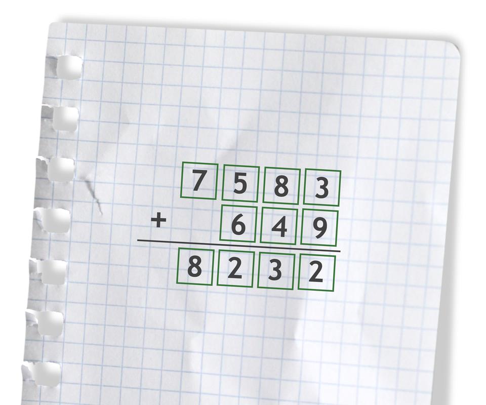 Przykład: 7583 +649 =8232. Rozwiązanie zadania.