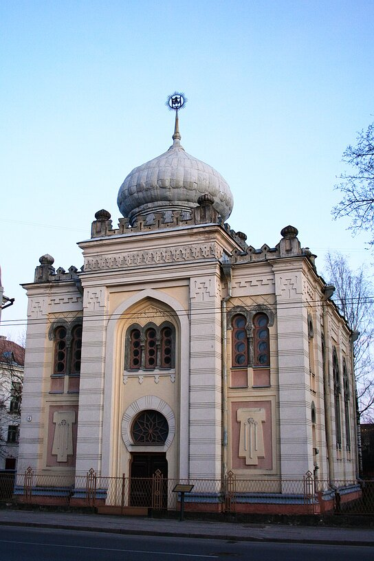 Świątynia karaimska wWilnie (wybud. WXIX w.) Świątynia karaimska wWilnie (wybud. WXIX w.) Źródło: Wikimedia Commons, licencja: CC BY-SA 3.0.