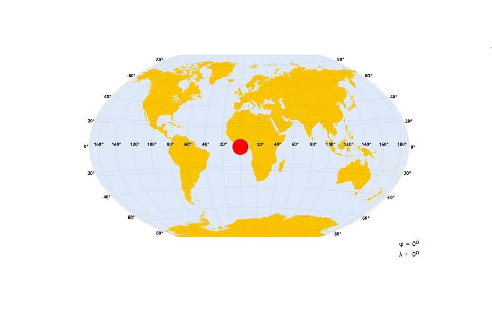 Interaktywne ćwiczenie na określanie długości iszerokości geograficznej na Ziemi