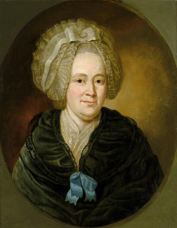 Katharina Elizabeth Goethe - foto do biogramu Źródło: domena publiczna.