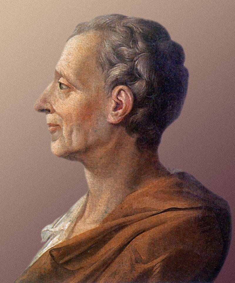Portret Karola Monteskiusza Źródło: autor nieznany, Portret Karola Monteskiusza, olej na płótnie, Wersal, domena publiczna.