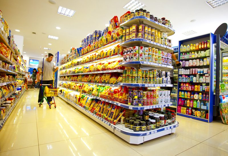Supermarket Źródło: Vladimir Kirakosyan, Supermarket, fotografia, domena publiczna.