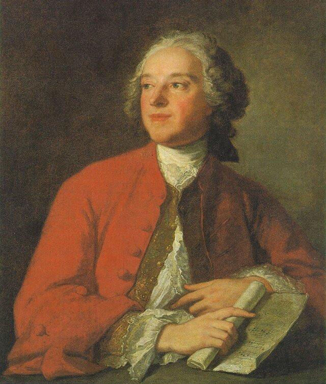 """PortretPierre-Augustin Caron de Beaumarchais – portret zok. 1765 r. namalowany przez Jean-Marca Nattiera (1675-1766) – autora słynnego autora """"Wesela Figara – przechowywany wzbiorach Comédie-Française wParyżu. PortretPierre-Augustin Caron de Beaumarchais – portret zok. 1765 r. namalowany przez Jean-Marca Nattiera (1675-1766) – autora słynnego autora """"Wesela Figara – przechowywany wzbiorach Comédie-Française wParyżu. Źródło: Jean-Marc Nattier, ok. 1755, Olej na płótnie, Institution:Comédie-Française, domena publiczna."""