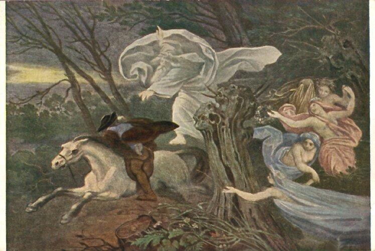 Król elfów Źródło: Moritz von Schwind, Król elfów, 1917, ilustracja, licencja: CC 0.